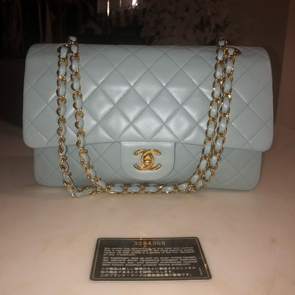 66b882944152 CHANEL Bags | Auth Pastel Blue Classic Ml Double Flap | Poshmark